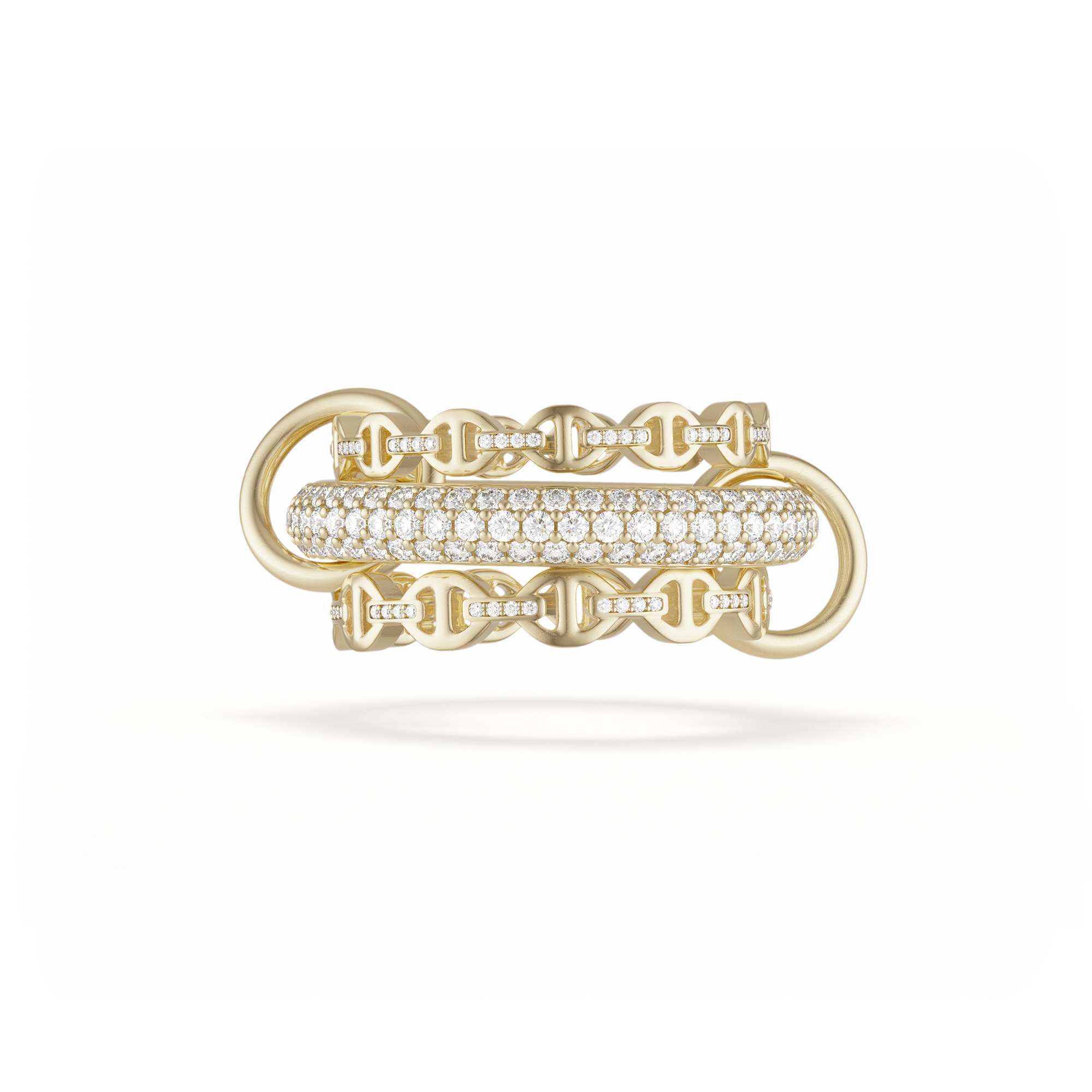 MICRO DAME SK GOLD PAVE